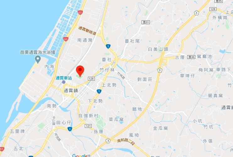 苗栗通霄神社地图地理位置