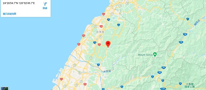 雪霸国家公园苗栗区地图地理位置