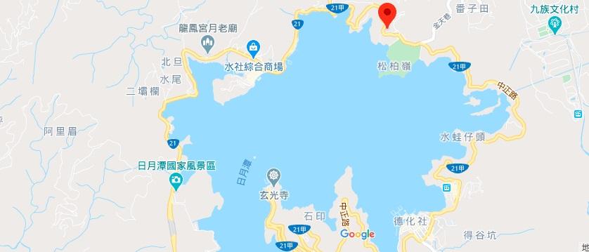 文武庙在日月潭地图地理位置