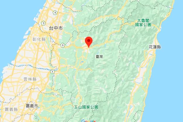 台湾地理中心碑地图地理位置
