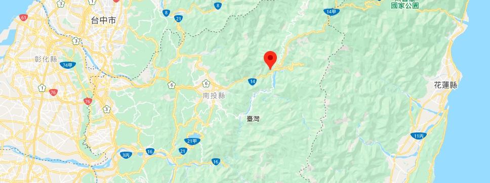 南投雾社地图地理位置