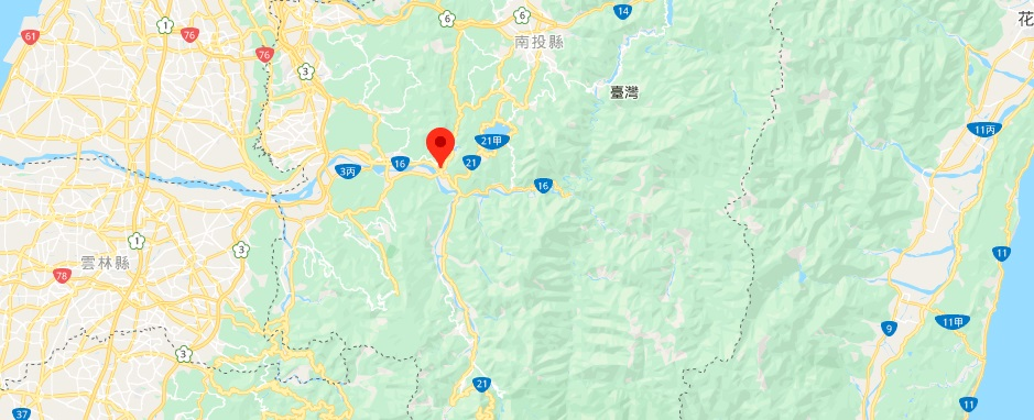 台湾玉山地图地理位置