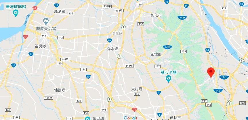 彰化宝藏寺地图地理位置