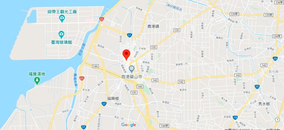 彰化鹿港老街地图地理位置