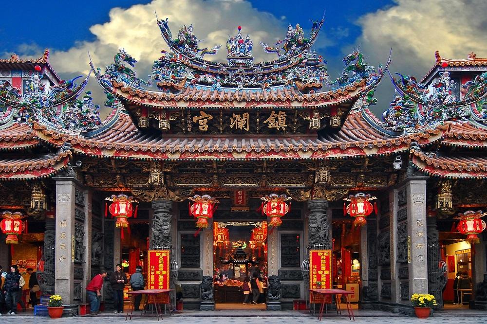 寺庙外观庄严神圣