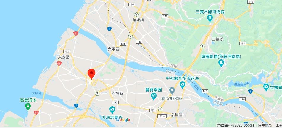 台中大甲镇澜宫地图地理位置