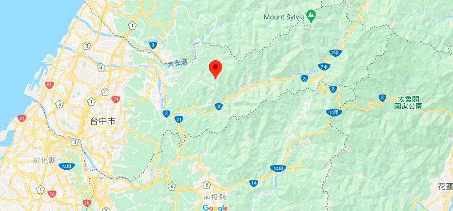 台中大雪山地图地理位置