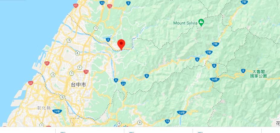 台中东势林场地图地理位置