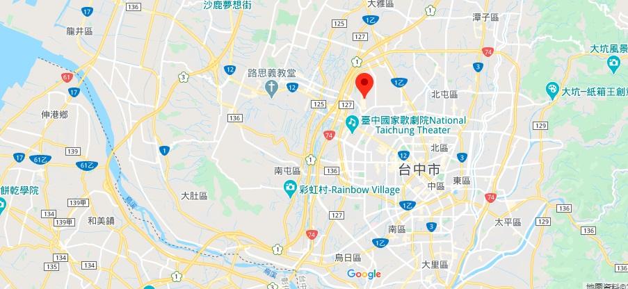 台中分家逢甲夜市地图地理位置