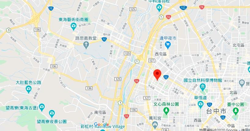 台中歌剧院地理位置地图