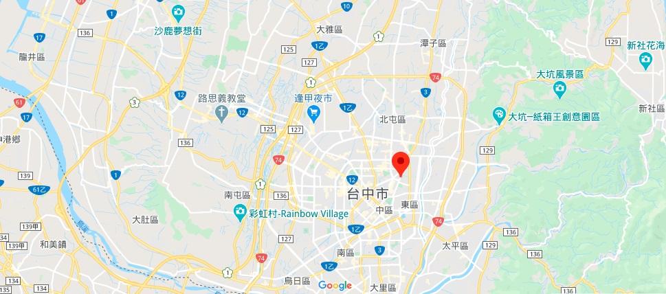 台中孔庙地理位置地图