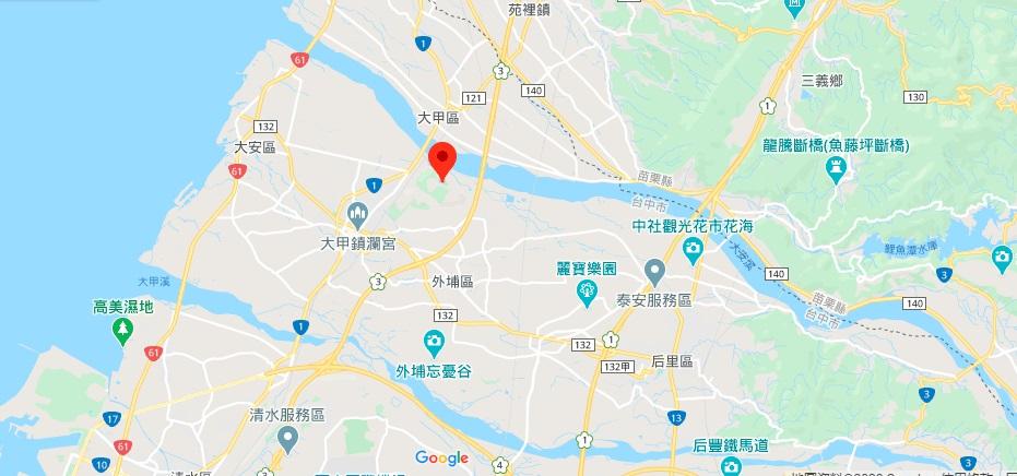 台中铁砧山地图地理位置