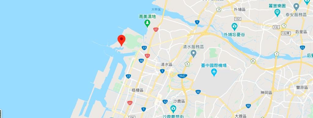 台中梧栖渔港地图地理位置