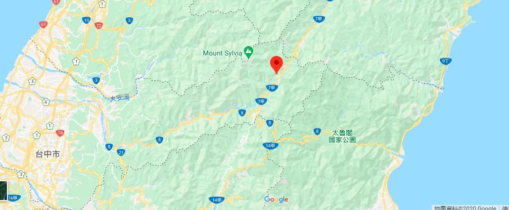 台中武陵农场地图地理位置