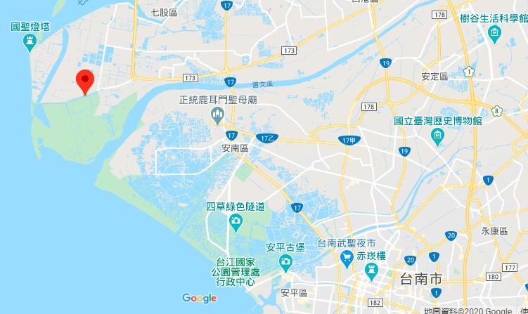 台南黑面琵鹭生态展示馆地理位置地图