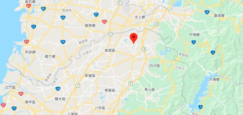台南林初埤木棉花道地理位置地图
