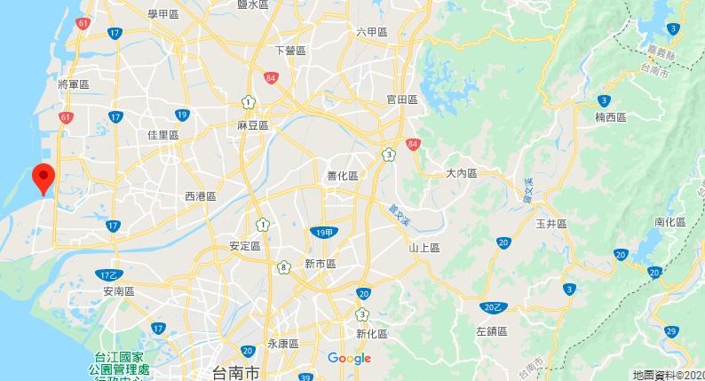台南七股泻湖地理位置地图