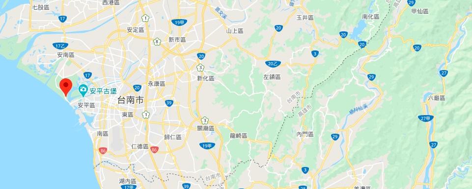 台南台江公园地理位置地图
