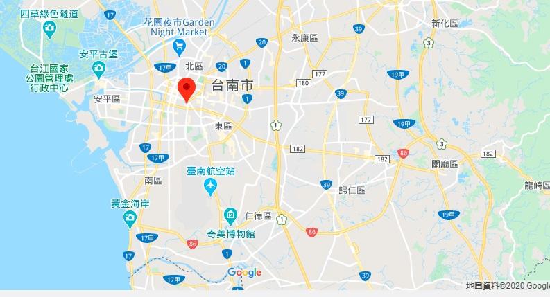台南孔庙地理位置地图
