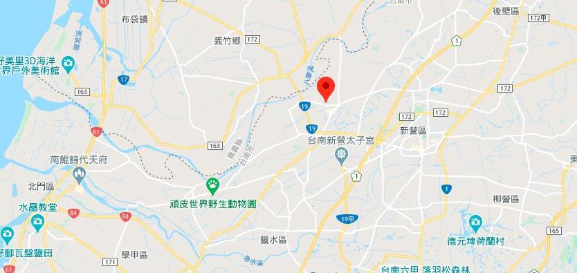 台南盐水武庙地理位置地图