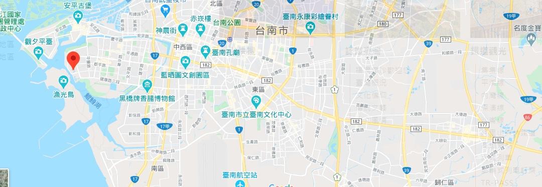 台南亿载金城地理位置地图