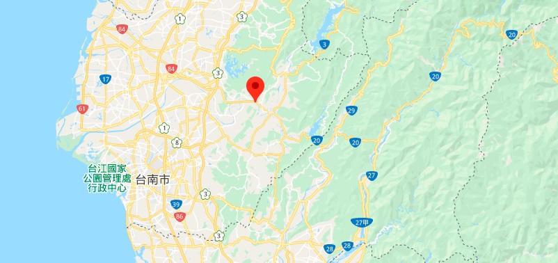 台南走马濑农场地理位置地图