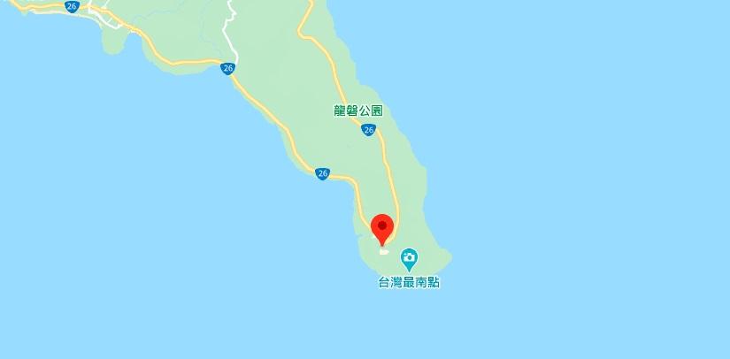 垦丁鹅銮鼻地理位置地图