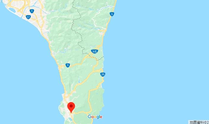 恒春古城地理位置地图