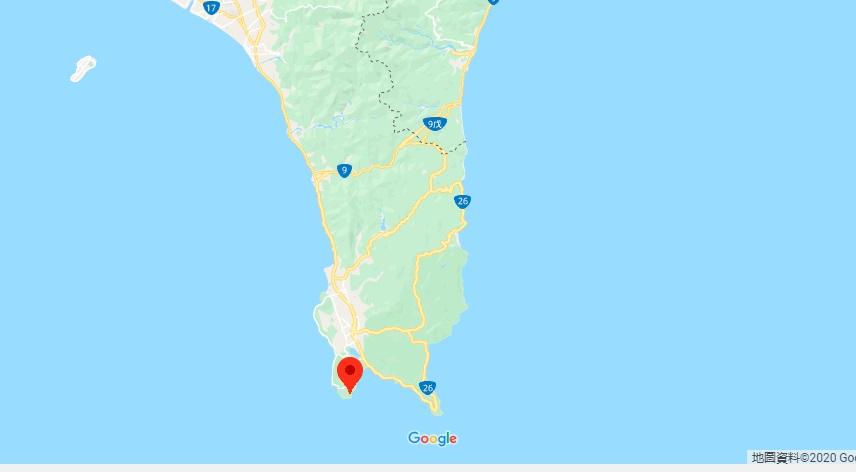 垦丁猫鼻头公园地理位置地图