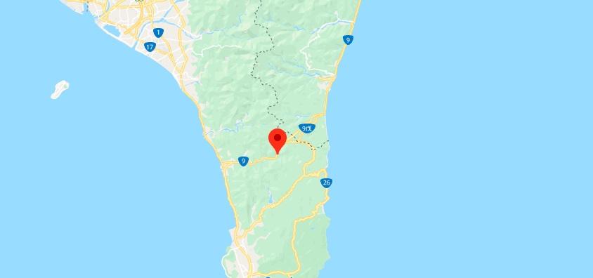 垦丁双流森林景区地理位置地图