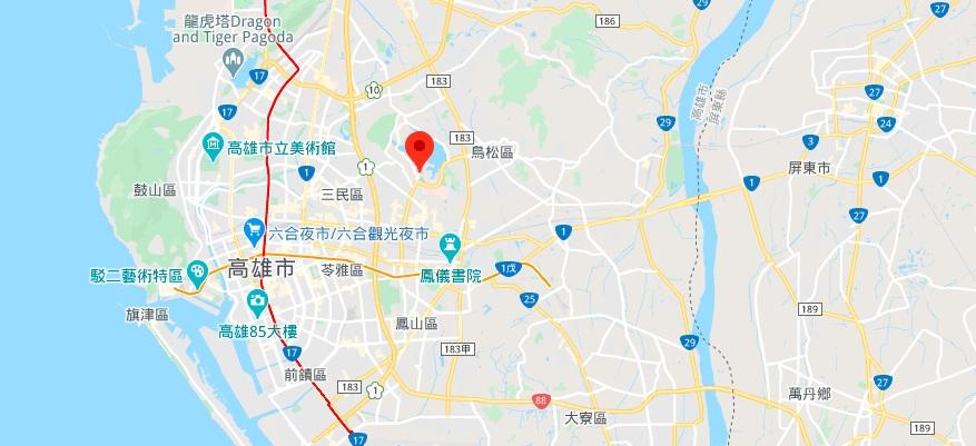 高雄澄清湖地理位置地图