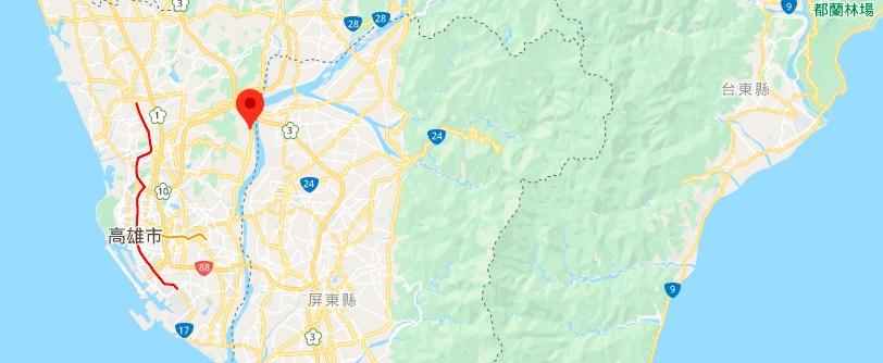 佛光山地理位置地图