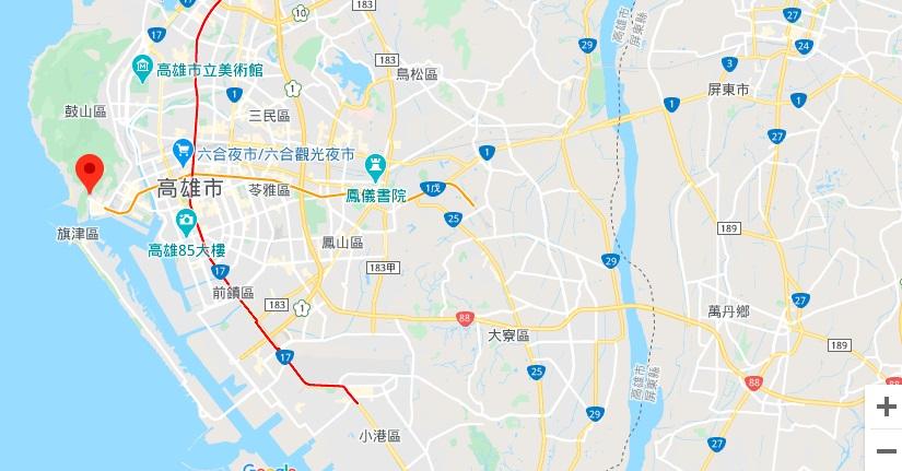 高雄港地理位置地图