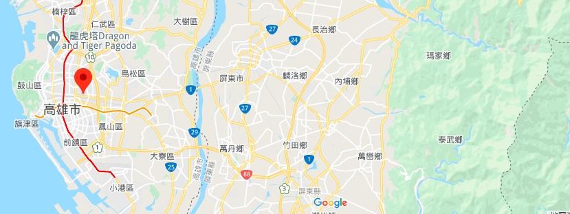 高雄科学工艺博物馆地理位置地图
