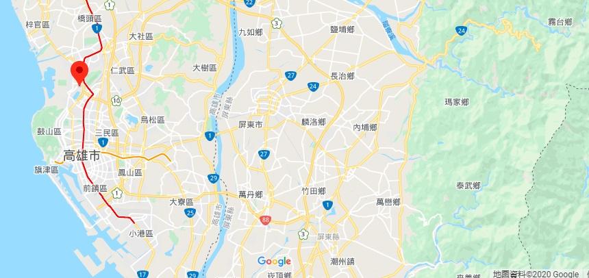 高雄孔庙地理位置地图