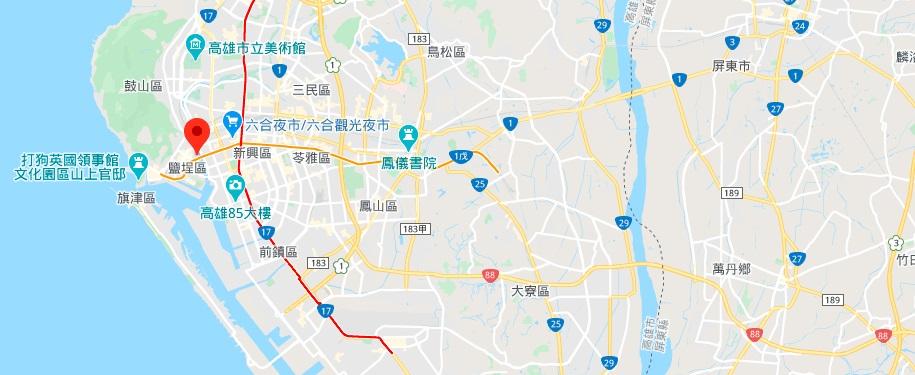 高雄历史博物馆地理位置地图