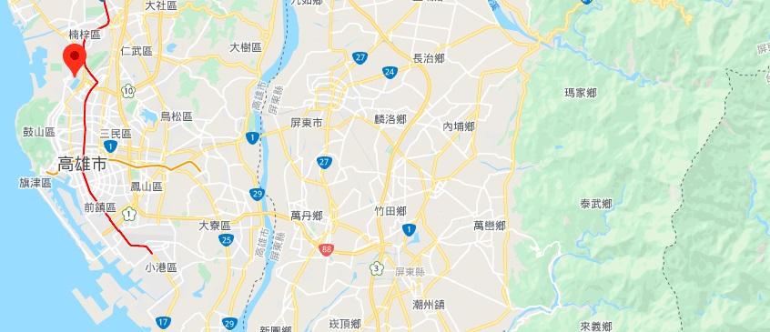 高雄莲池潭地理位置地图
