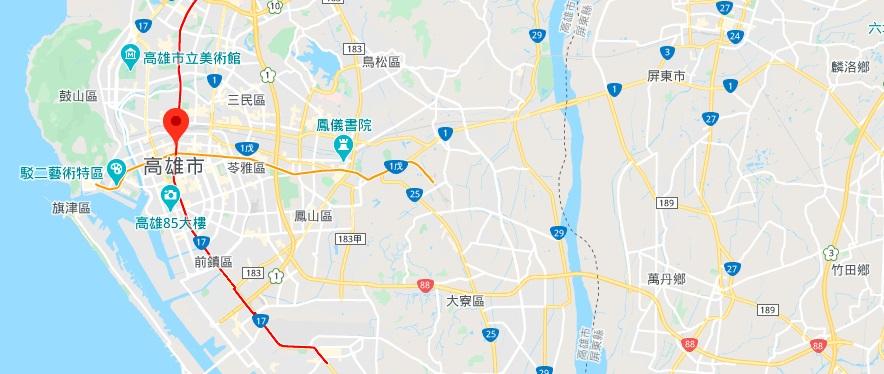 高雄六合观光夜市地理位置地图