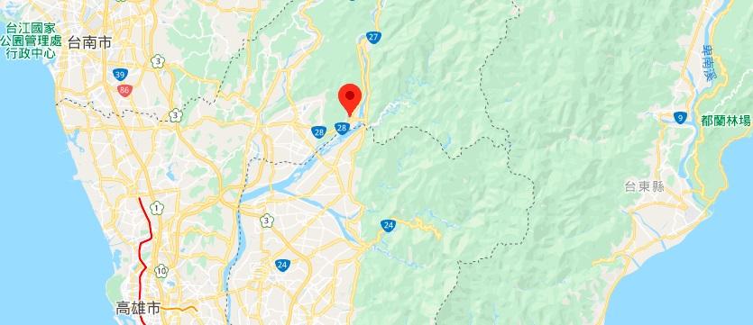 高雄茂林风景区地理位置地图