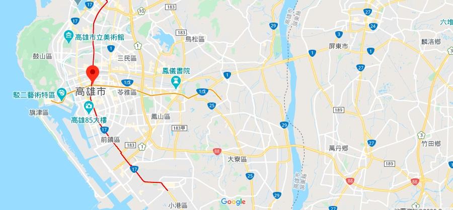 高雄美丽岛站地理位置地图
