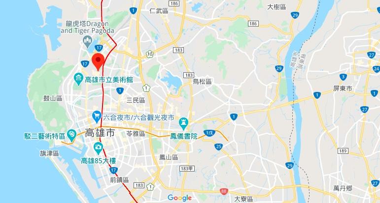 高雄瑞丰夜市地理位置地图