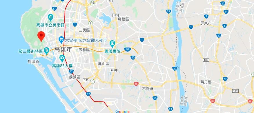 高雄寿山自然公园地理位置地图