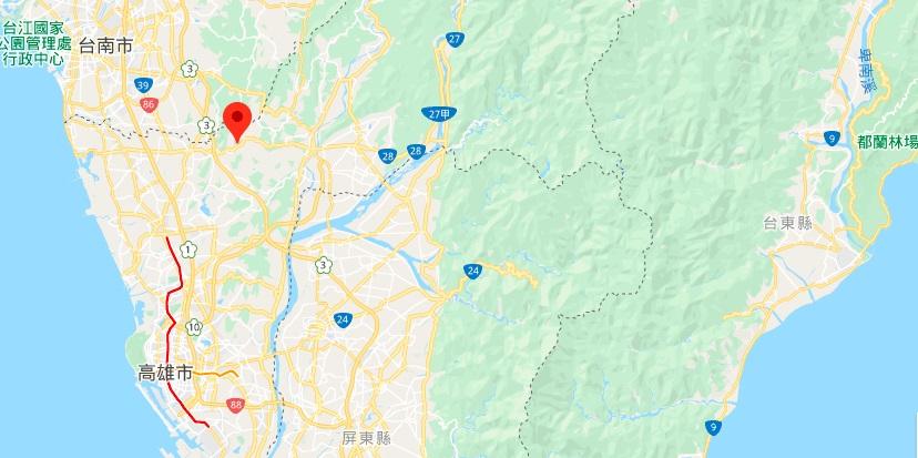 高雄田寮月世界地理位置地图
