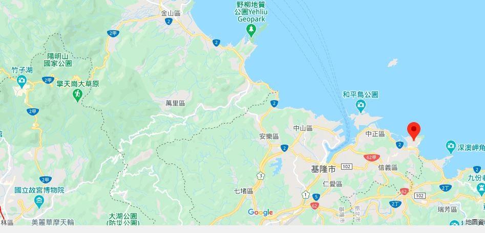 基隆八斗子海滨公园地理位置地图