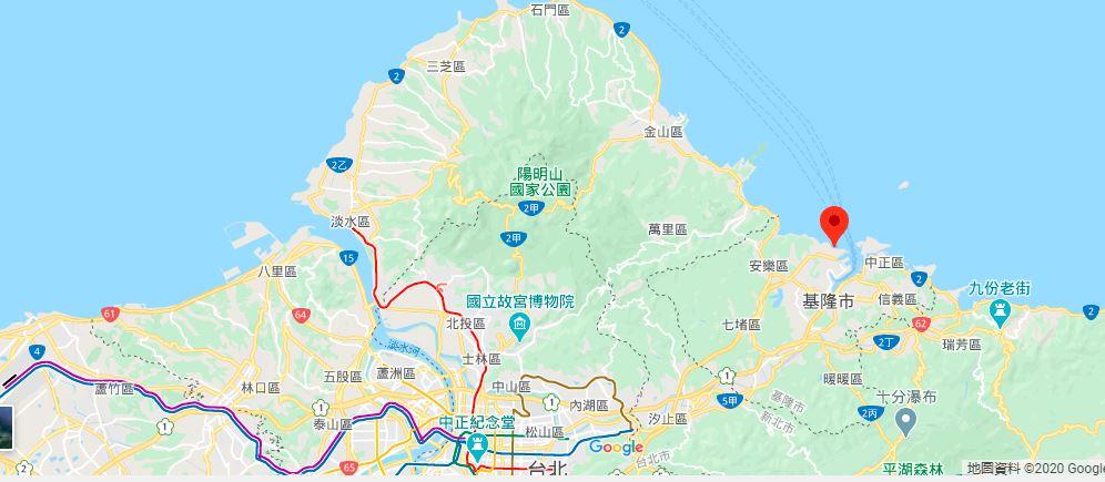 基隆白米瓮炮台地理位置地图
