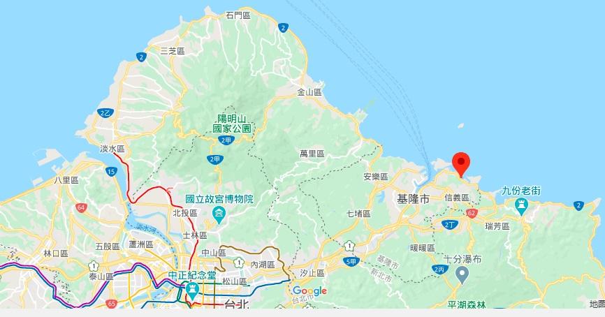 基隆碧砂渔港地理位置地图