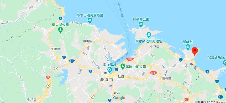 基隆潮境公园地理位置地图