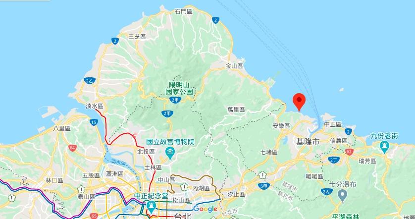 基隆外木山滨海大道地理位置地图