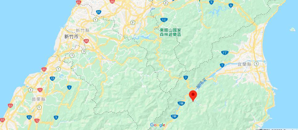 宜兰鸠之泽温泉地理位置地图