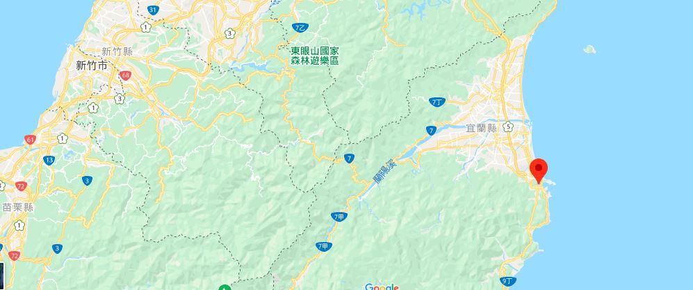 宜兰苏澳冷泉地理位置地图